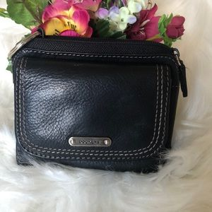 Dockers Black Leather Wallet/ Key Holder